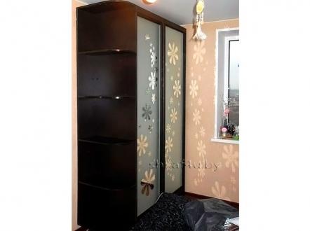 Стильный шкаф-купе с пескоструем