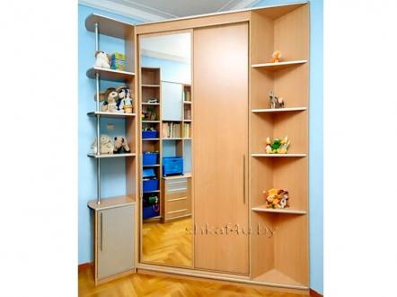 Угловой шкаф-купе для детской комнаты